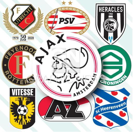 Dutch Eredivisie crests 2020-21 infographic