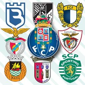 SOCCER: Portuguese Primeira Liga crests 2020-21 infographic