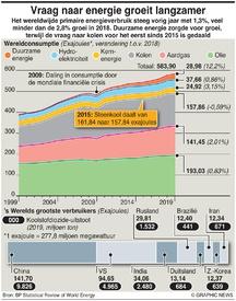 ENERGIE: Vraag naar energie groeit langzamer infographic