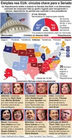ELEIÇÕES NOS EUA: Círculos chave para o Senado infographic