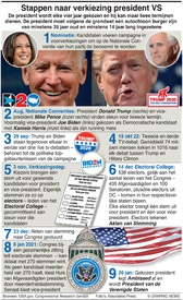 VERKIEZINGEN VS: Het kiezen van een Amerikaanse president infographic