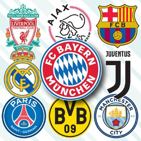 SOCCER: UEFA Champions League crests 2020-21 infographic