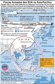 DEFESA: Forças Armadas dos EUA na Ásia-Pacífico infographic