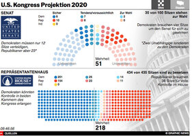 US WAHL 2020: Senat und House Ergebnisse  interactiv infographic