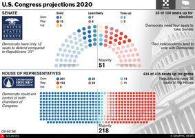U.S. ELECTION 2020: Senate and House results interactive infographic