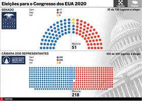 ELEIÇÕES NOS EUA 2020: Resultados para o Senado e Câmara dos Representantes interactivo (2) infographic