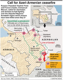 CONFLICT: Call for Nagorno-Karabakh ceasefire infographic