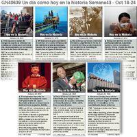 HISTORIA: Un día como hoy Octubre 18-24, 2020 (semana 43) infographic