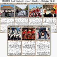 تاريخ: حدث في مثل هذا اليوم - ٢٤ - ٣١ تشرين الأول - الأسبوع ٤٤  infographic