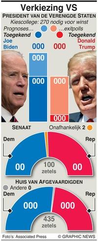 VERKIEZINGEN VS: Verkiezingsuitslag in het kort infographic