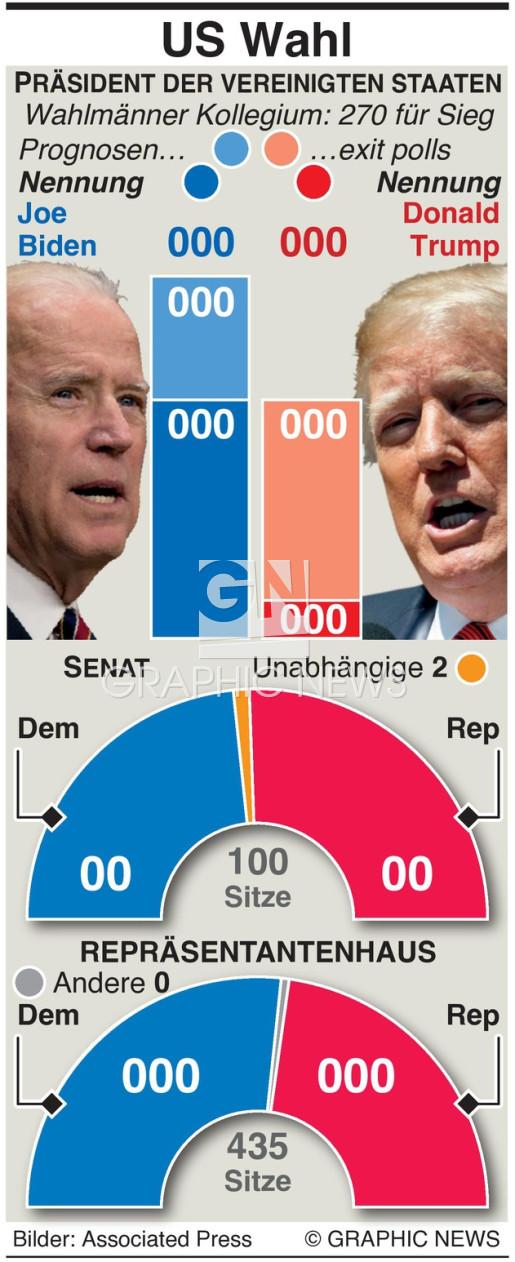 U.S. Wahlergebnis auf einen Blick infographic