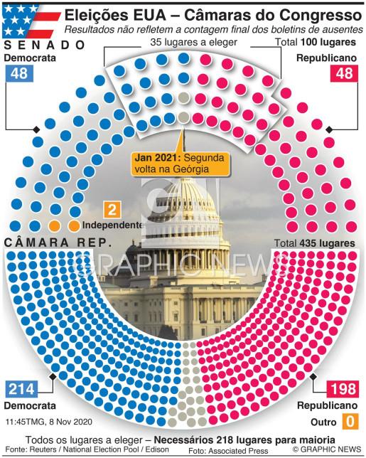 Resultado das eleições para o Congresso infographic