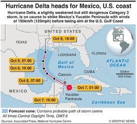 WEATHER: Hurricane Delta infographic