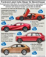 POLITIK:  Frankreichs Steuer auf Benzinfresser infographic