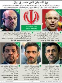 سياسة: أبرز المتسابقين لأعلى منصب في إيران infographic