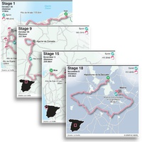 CYCLING: La Vuelta a España maps 2020 infographic