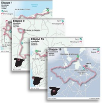 WIELRENNEN: Vuelta 2020 etappekaartjes infographic
