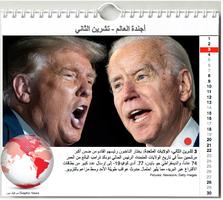 أخبار: أجندة العالم - تشرين الثاني ٢٠٢٠ infographic