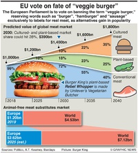 BUSINESS: EU vote on veggie burgers infographic