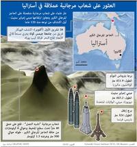 بيئة: العثور على شعاب مرجانية عملاقة في أستراليا infographic