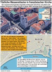 TERROR: Messerangriff in Nizza infographic