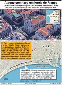 TERRORISMO: Ataque com faca em Nice infographic