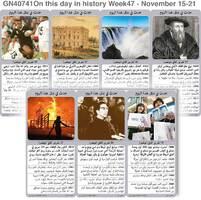 تاريخ: حدث في مثل هذا اليوم - ١٥ - ٢١ تشرين الثاني - الأسبوع ٤٧ infographic