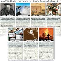 HISTORIA: Un día como hoy Noviembre 15-21, 2020 (semana 47) infographic