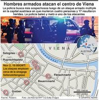 TERRORISMO: Tiroteo en Viena infographic