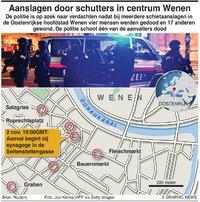 TERREUR: Schietpartij Wenen infographic