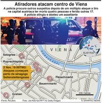 TERRORISMO: Tiroteio em Viena (1) infographic
