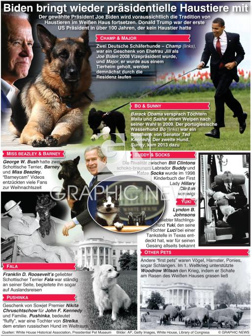 Pets der US Präsidenten infographic