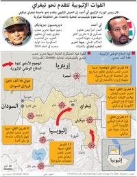 صراع: القوات الإثيوبية تتقدم نحو تيغراي infographic