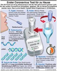 GESUNDHEIT: Coronavirus Test für Hausgebrauch infographic