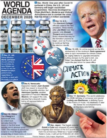WORLD AGENDA: December 2020 infographic