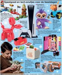 FEESTDAGEN: Speelgoed en tech-snufjes voor de feestdagen 2020 infographic