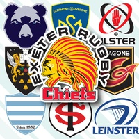 RUGBY: European Rugby Champions Cup crests 2020-21 infographic
