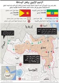 صراع:الزعيم الإثيوبي يرفض الوساطة infographic
