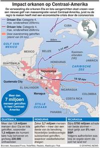 RAMPEN: Impact orkanen op Centraal-Amerika infographic