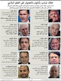 سياسة: حلفاء ترامب يأملون بالحصول على العفو الرئاسي infographic