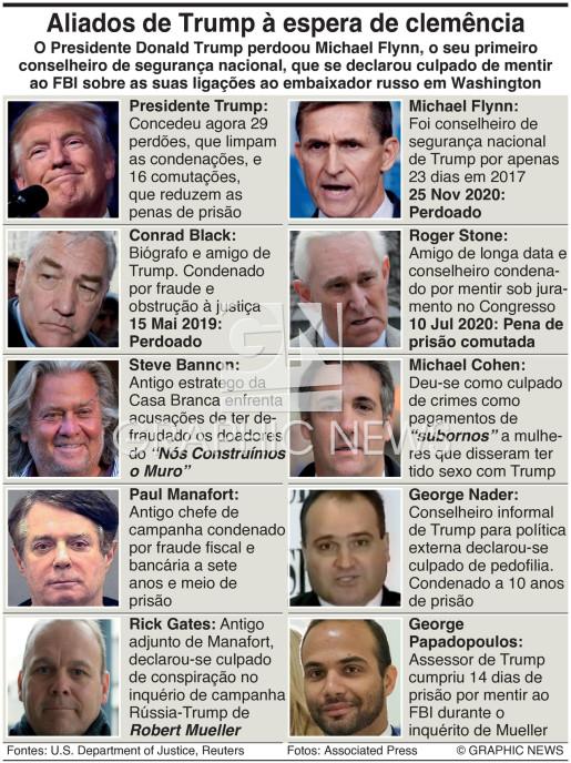 Perdões presidenciais de Trump infographic