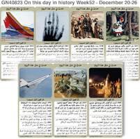 تاريخ:حدث في مثل هذا اليوم - 20 - 26  كانون الأول - الأسبوع 52 infographic