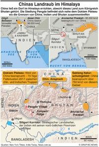 INDIEN: Chinas Landraub im Himalaya  infographic