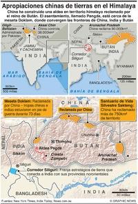 INDIA: Apropiaciones chinas de tierras en el Himalaya infographic