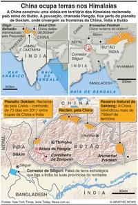 ÍNDIA: China ocupa terras nos Himalaias infographic