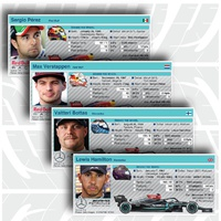 F1: Driver profiles 2021 (2) (part 1) infographic