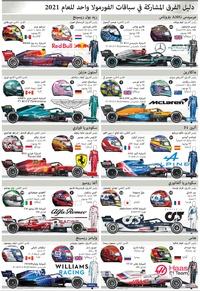 سباق سيارات: فورمولا واحد - دليل الفرق 2021 (6) infographic