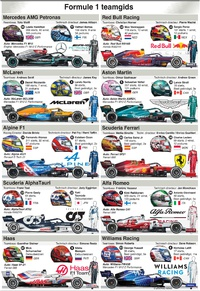 F1: Teamgids 2021 infographic