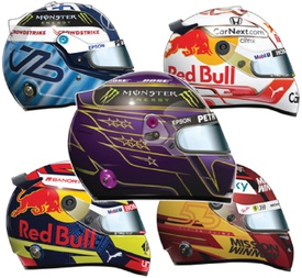 F1: Drivers' helmets 2021 (7) infographic