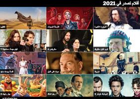 نهاية العام:أفلام تصدر في العام 2021 - رسم تفاعلي infographic